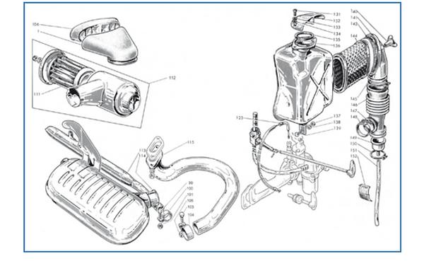 Lambretta LI series 1 exhaust