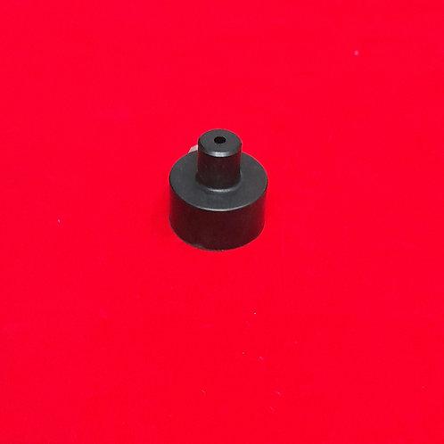 Rear suspension unit internal rubber buffer