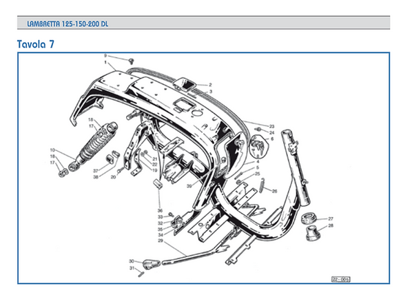 Lambretta GP Shock absorbers