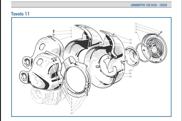 Lambretta LD 150 Flywheel