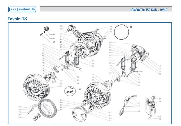 Lambretta LD 150 LT coil