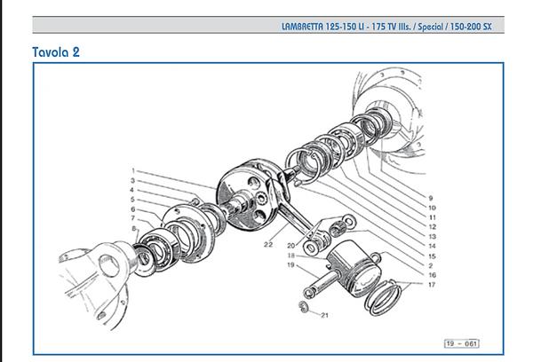 Lambretta series 3 crankshaft