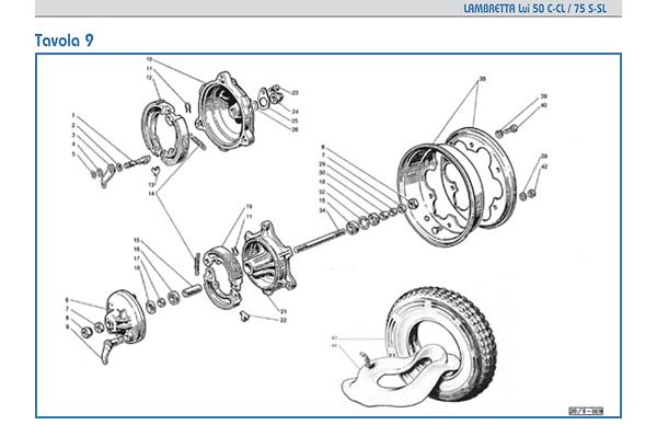 Lambretta Lui wheel rims