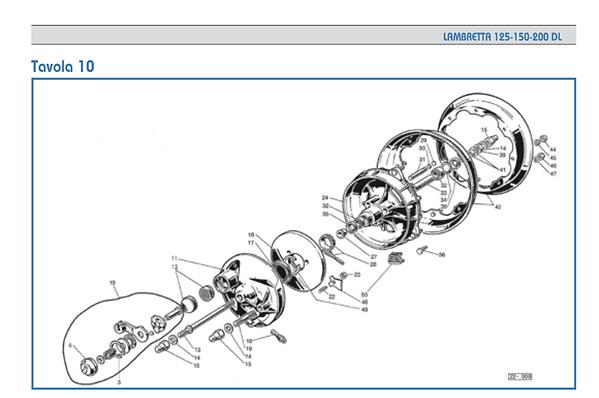 Lambretta GP hub