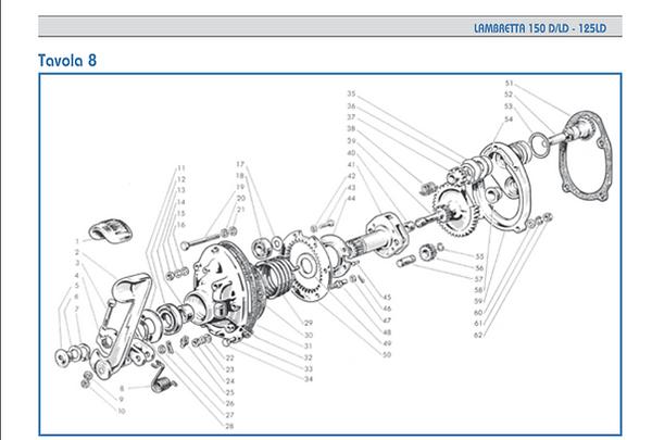 Lambretta LD 150 Kickstart