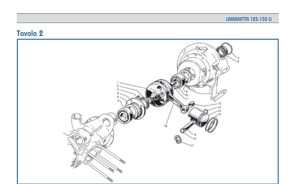 Lambretta LI series 1 Piston