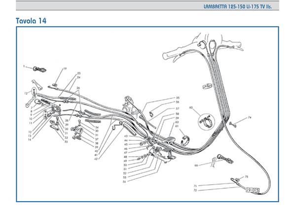 Lambretta series 2 cable