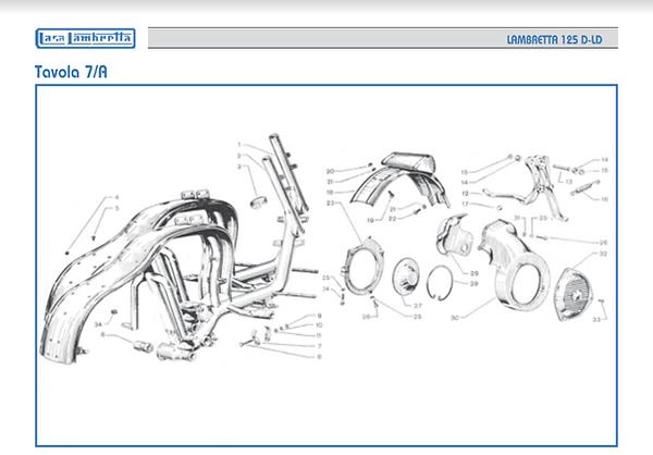 Lambretta LD 125 flywheel
