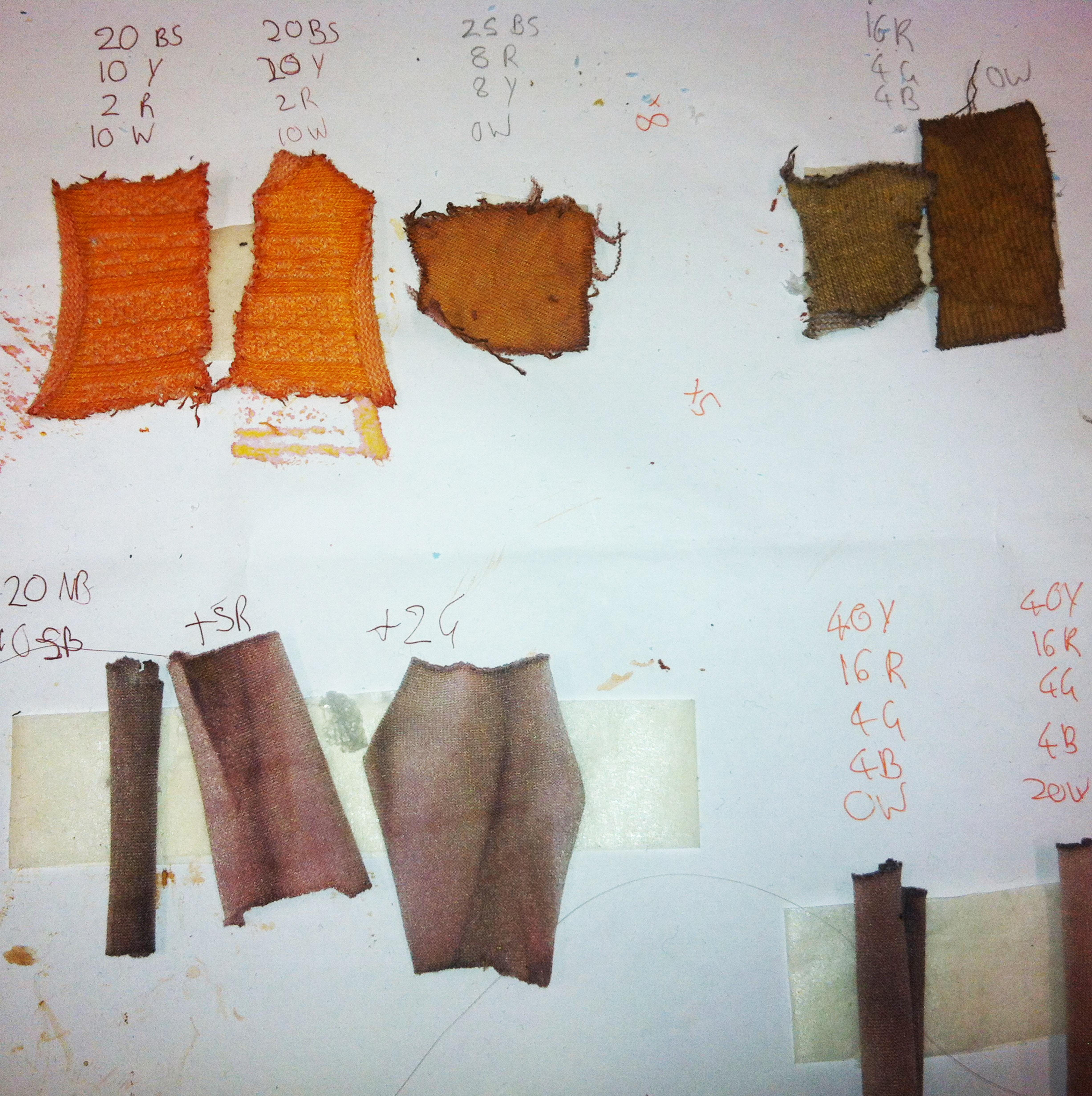 Alfie dye swatches