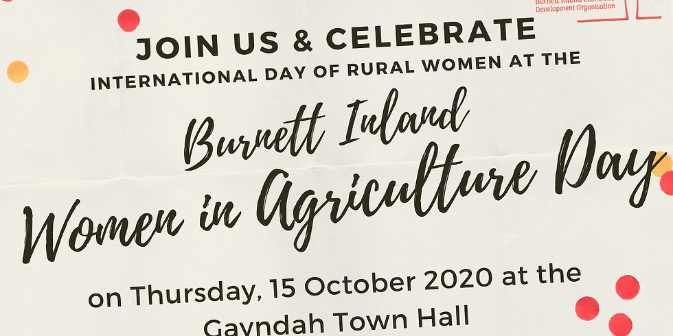 Burnett Inland Women in Agriculture Day