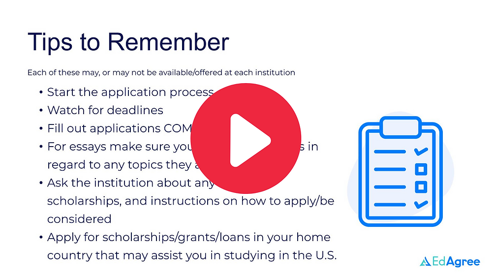 Understanding U.S. Higher Education Scholarships and Cost webinar