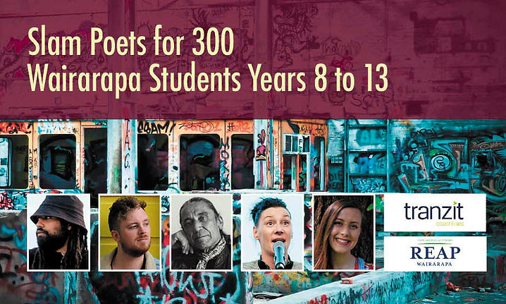 Slam Poets for 300 Wairarapa Students Years 8 to 13