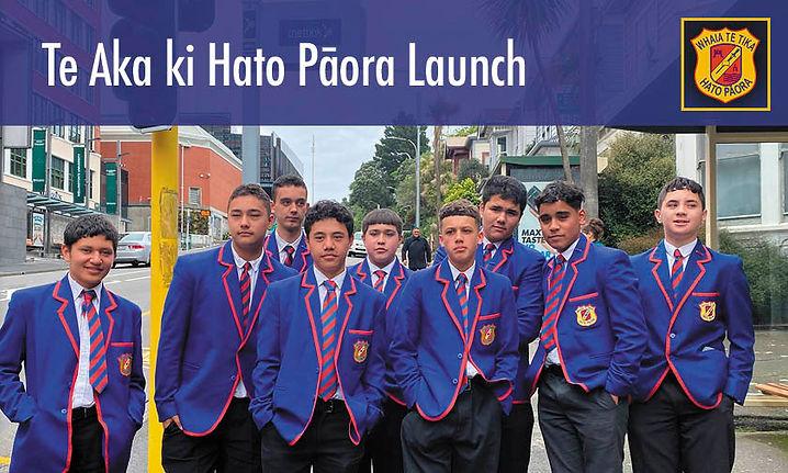 Te Aka ki Hato Pāora Launch