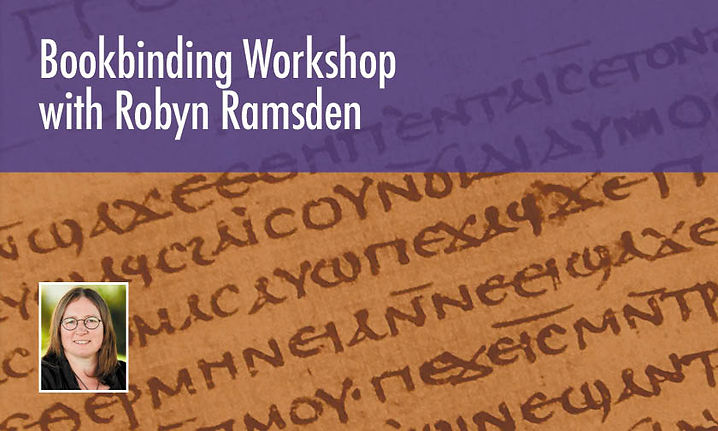Bookbinding Workshop with Robyn Ramsden