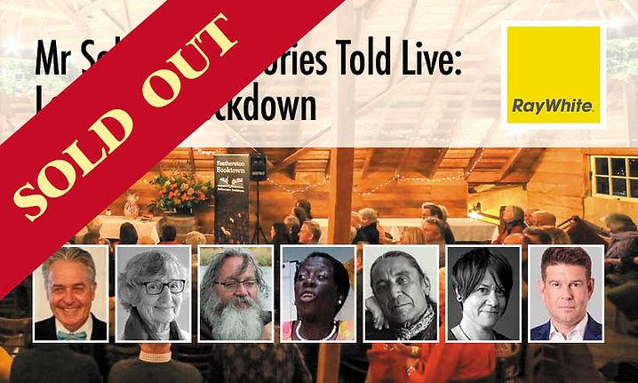 Mr Sold's True Stories Told Live: Locked In/Lockdown