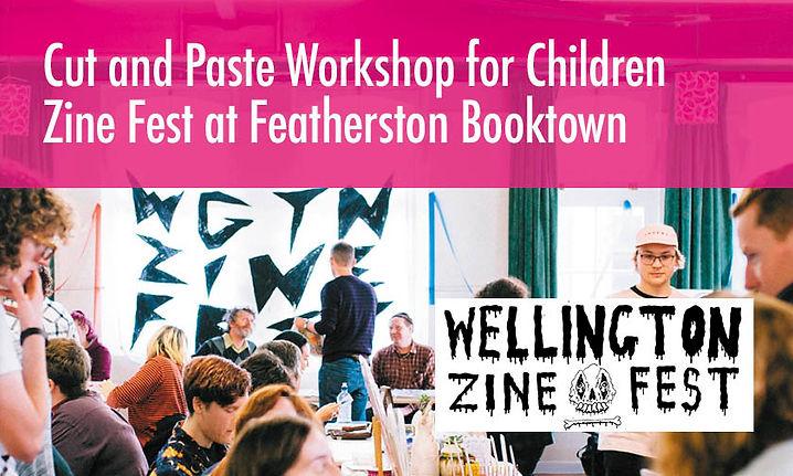 Cut and Paste Workshop for Children Zine Fest at Featherston Booktown