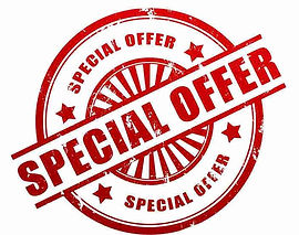 Special offer stamp for appliance installation or plumbing installation
