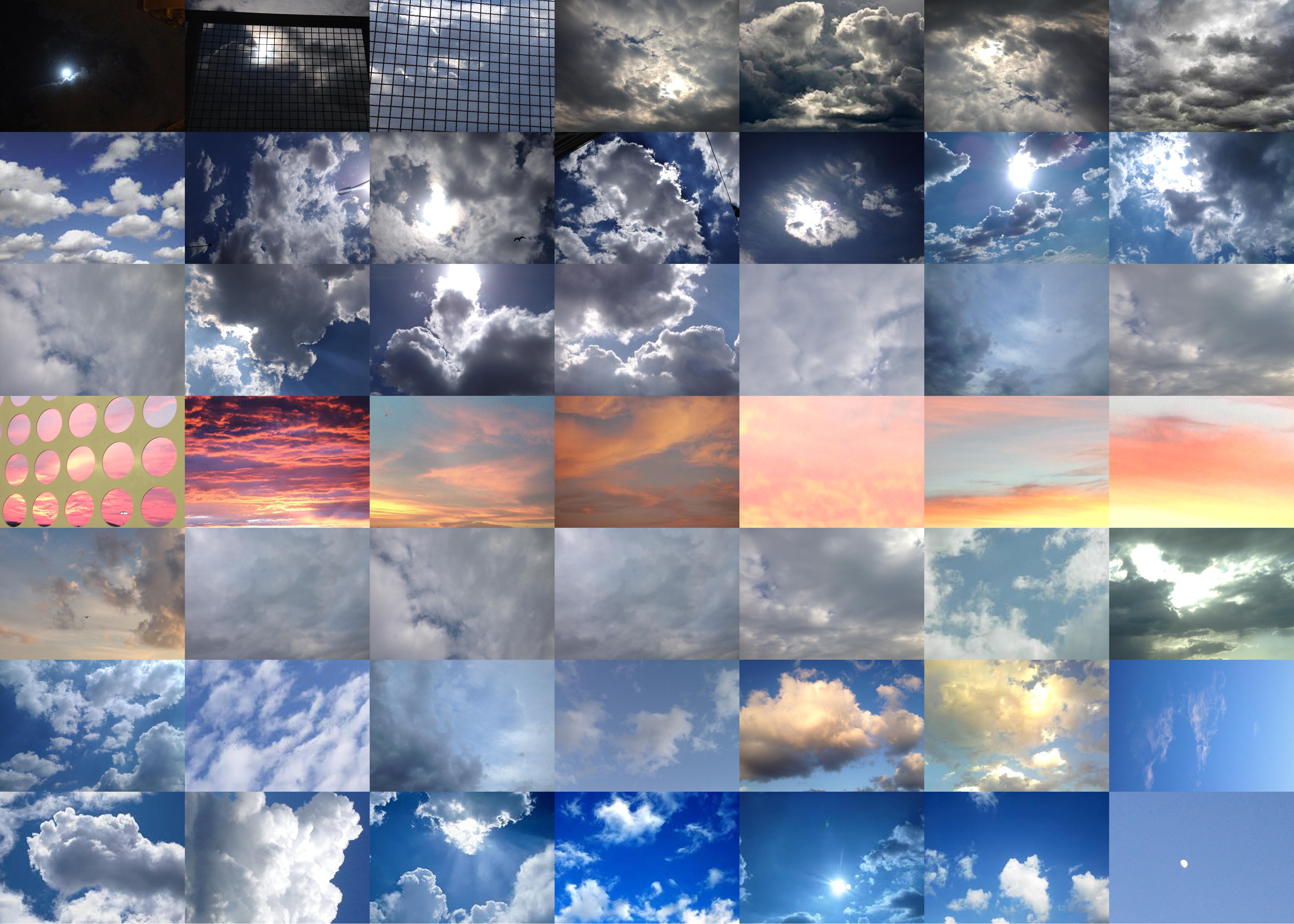 Cristiana Mazzoni, Nuvole e cielo