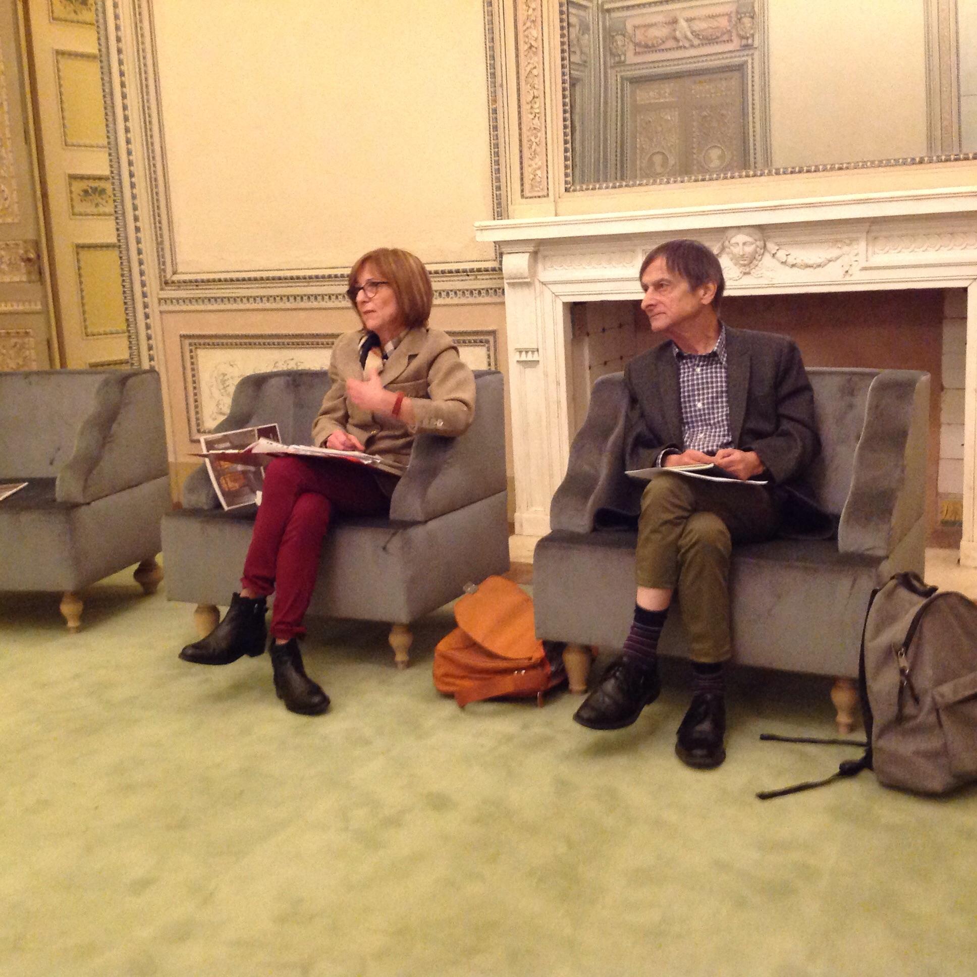 Laura Garavaglia con Gilberto Isella