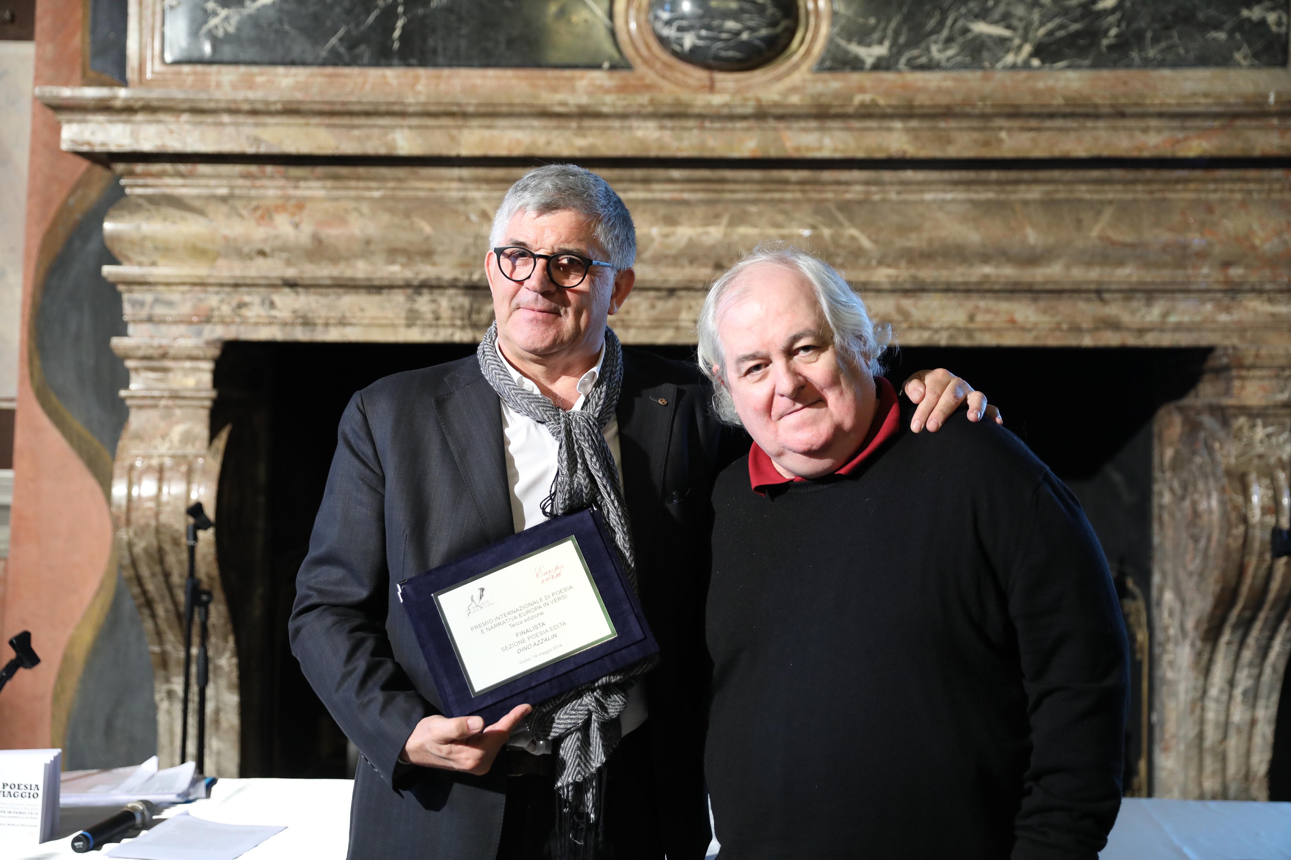 Dino Azzalin con Milo De Angelis