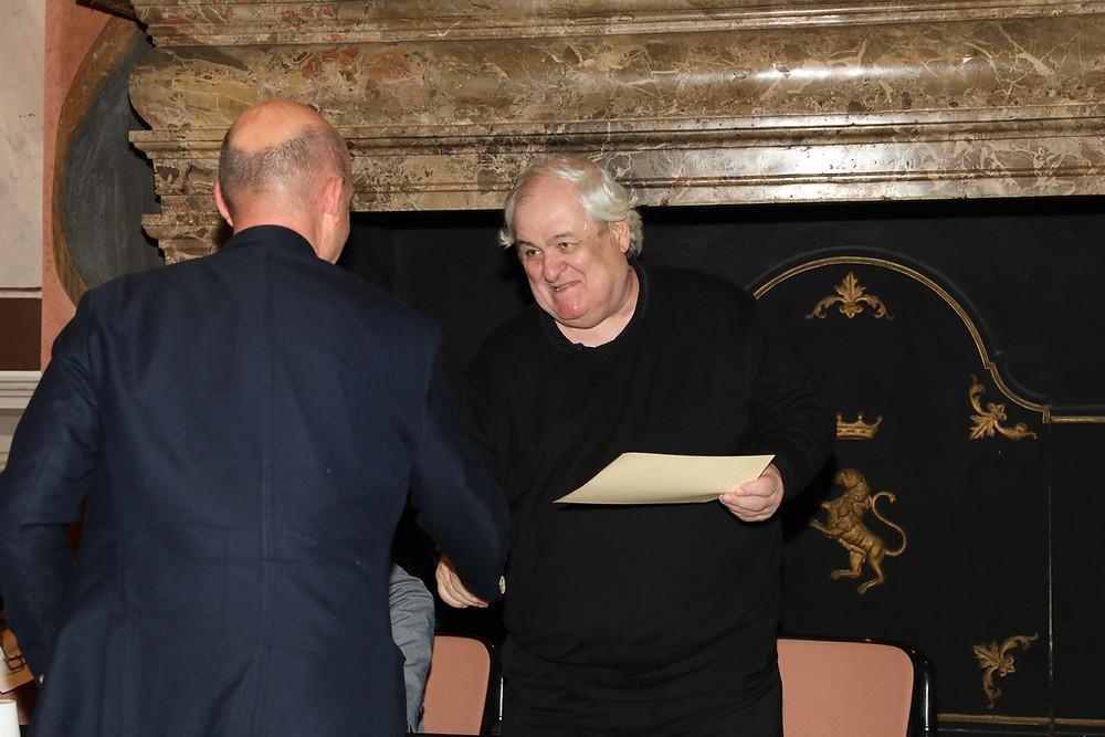 Giancarlo Stoccoro viene premiada Milo De Angelis
