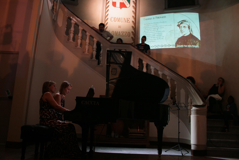 Le pianiste Giulia Gangi e Tatiana Balocco