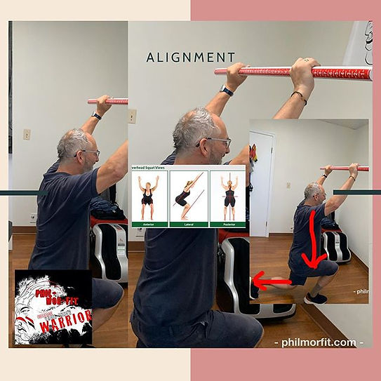 Body alignment is important when exercis