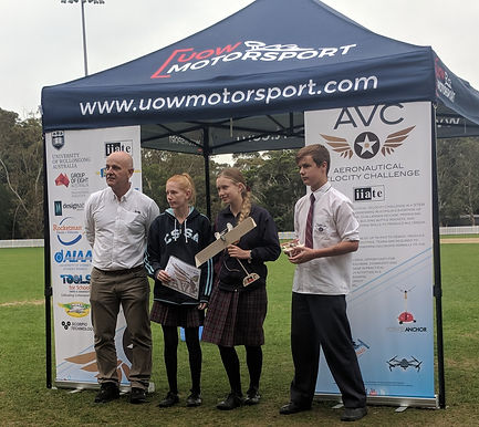Success in All Areas Aeronautical Velocity Challenge, University of Wollongong