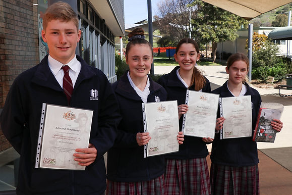 Winners, Anzac Day Writing Competition