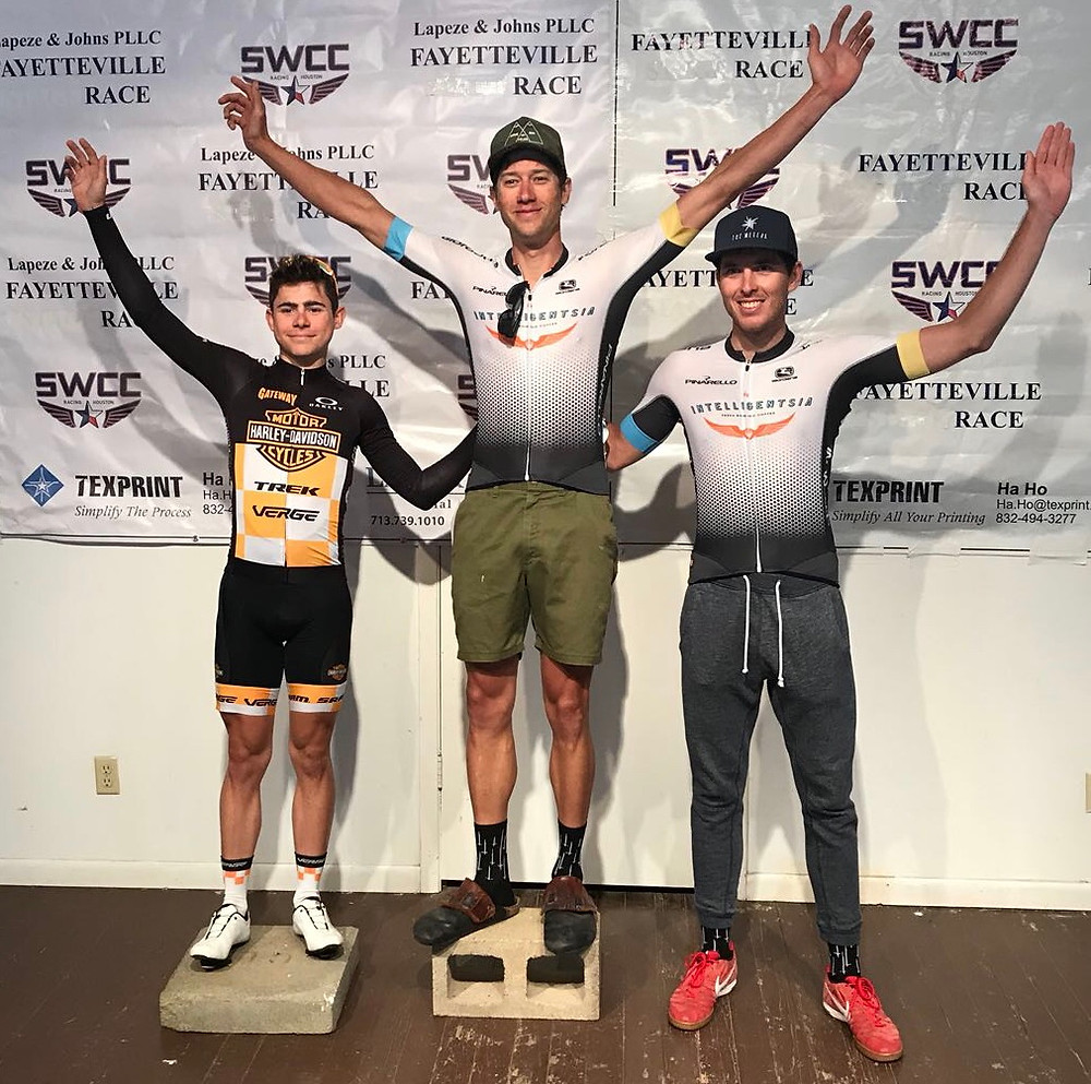 Evan Bausbacher 2nd place at The Fayetteville Road Race