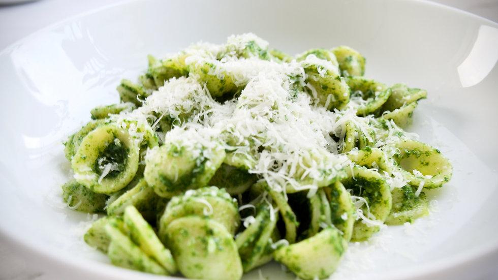 Orecchiette with kale pesto