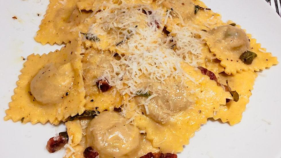 Butternut squash and ricotta ravioli