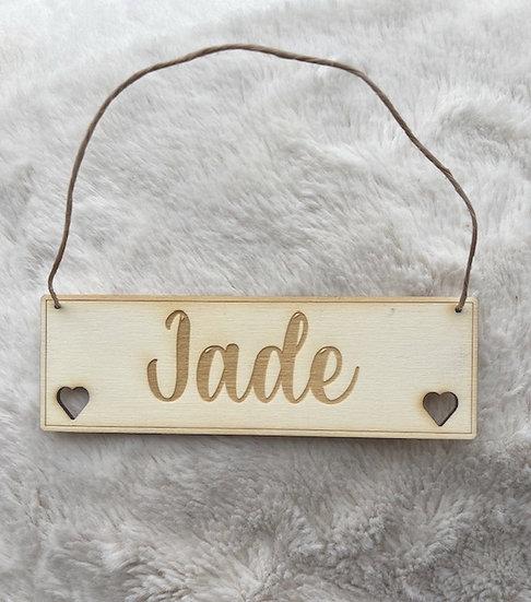 Plaque prénom en bois personnalisé