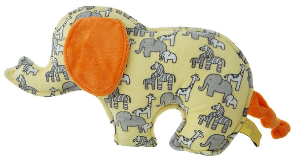 ÉLÉPHANT safari jaune, orange, gris