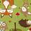 Thumbnail: Plaid renard, taupe, bleu