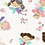 Thumbnail: Plaid poupées, lila, rose poudré
