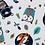 Thumbnail: Plaid dans la forêt & vert canard & orange