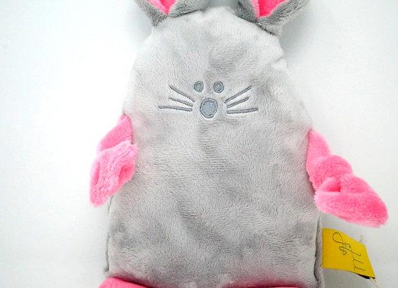 Le SOURICEAU gris, rose bonbon