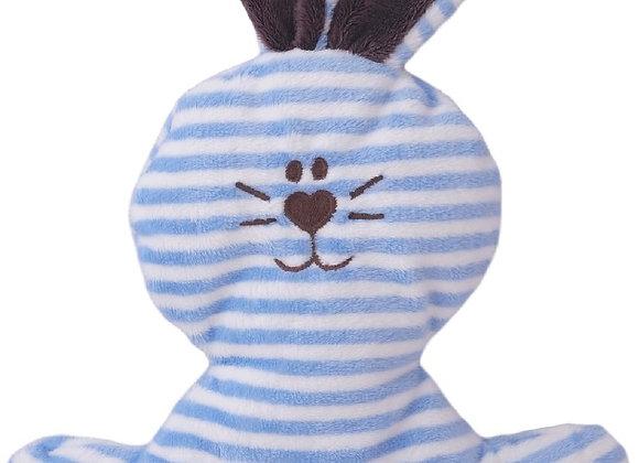PETIT LAPIN rayé bleu, chocolat