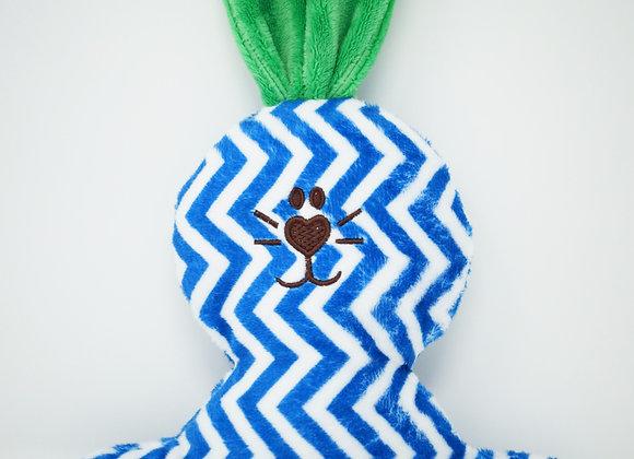 PETIT LAPIN chevron bleu, vert kelly