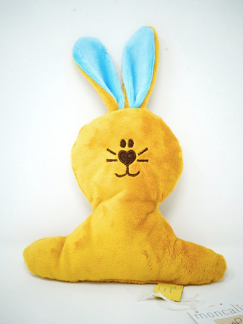 PETIT LAPIN moutarde, turquoise