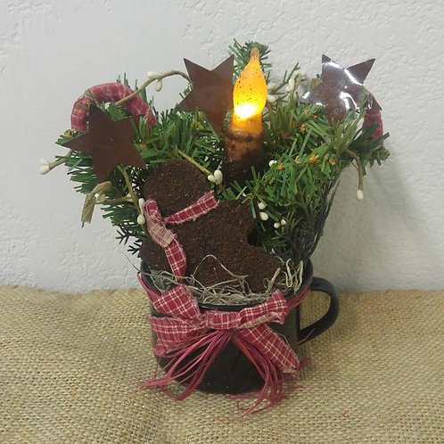 Primitive Christmas Cup