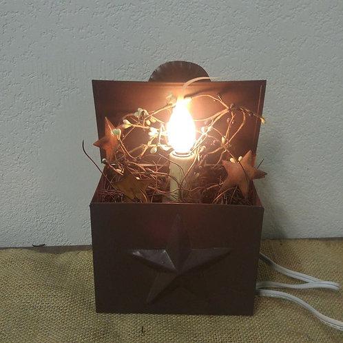 Electric Candle in Tin Box