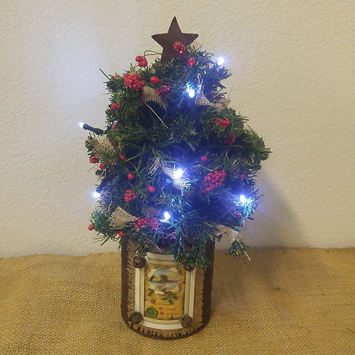 Rustic Tree with Lights