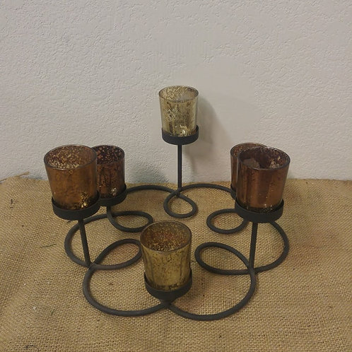 Wrought Iron Candle Holder with Votives