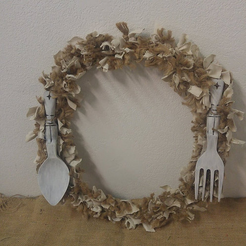 Rustic Fork and Spoon Wreath