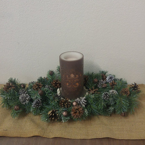 Rustic Arrangment with Battery Operated Candle