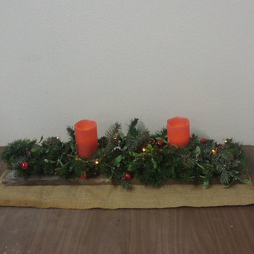 Christmas Arrangement with Battery Operated Candle's