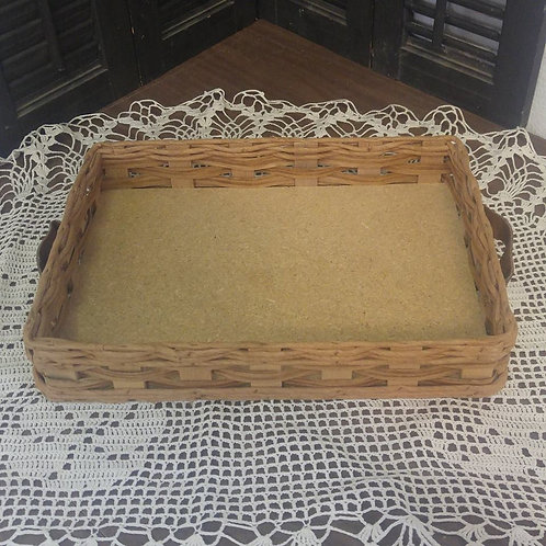 Basket with Leather Handle's