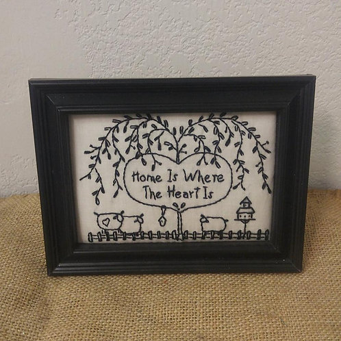 Embroidered Picture in Frame